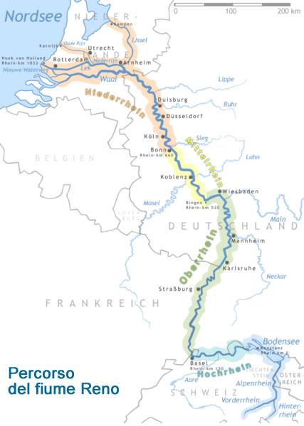 Cartina Germania Con Fiumi.Il Fiume Reno