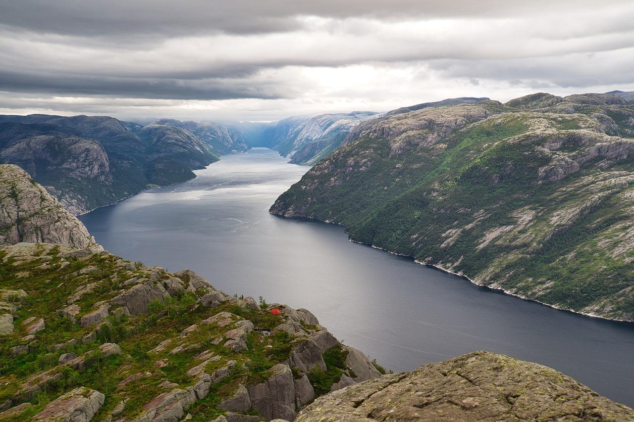 Un fiordo in Norvegia