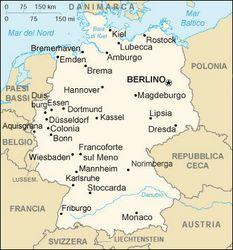 Germania Cartina Fiumi.Amburgo Germania